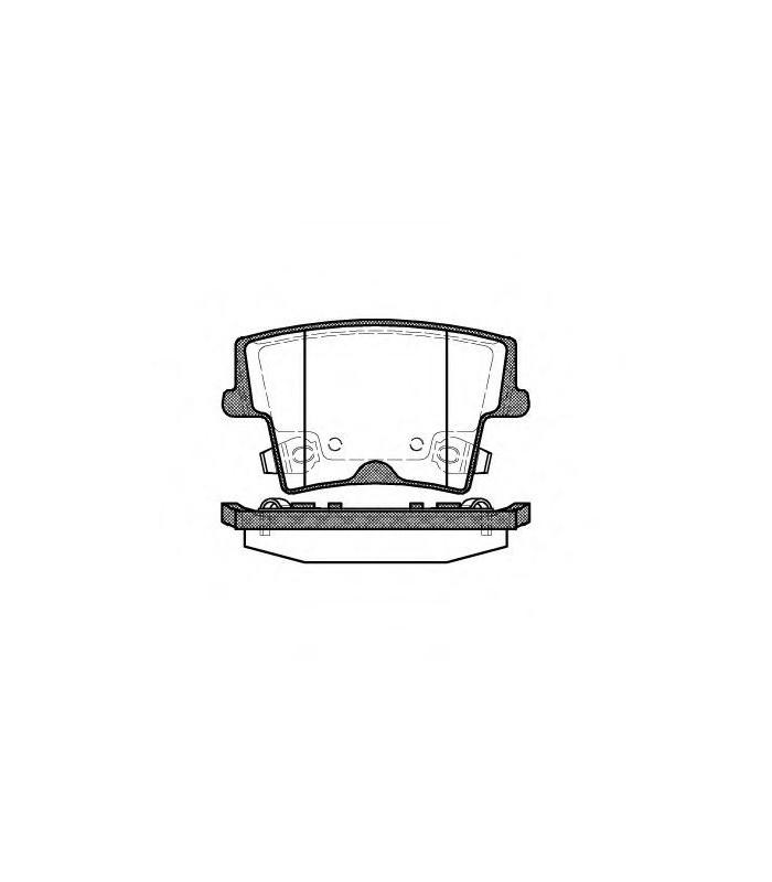 Juego pastillas de frenos traseras Chrysler 300C