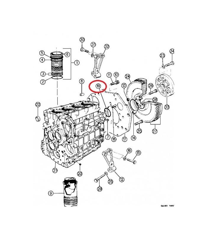 Junta torica motor VM 2.5TD, 3.1TD Jeep XJ,ZG,WJ OE 4863833