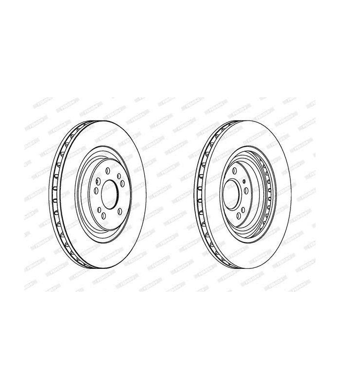 Juego de 2 discos frenos delanteros Mercedes-Benz clase ML W163 A1634210312