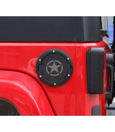 Tapa combustible negra estrella Jeep Wrangler JK
